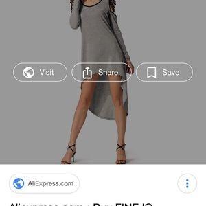 Finejo Asymmetrical dress, NWT, XL